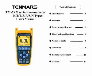 User Guide For Thermometer Tm747du