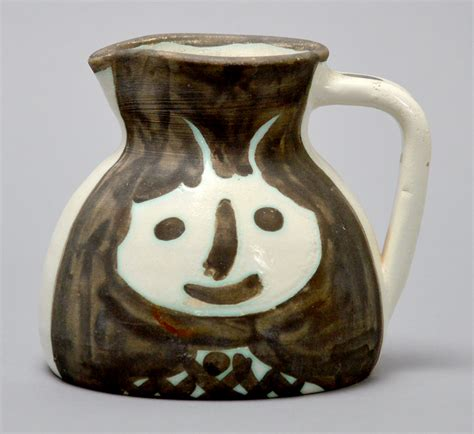 pablo picasso ceramic pitcher heads  turned pitcher