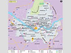 Seoul Map Map of Seoul City, South Korea