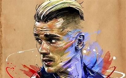 Griezmann Antoine Football Wallpapers Fan Soccer Atletico