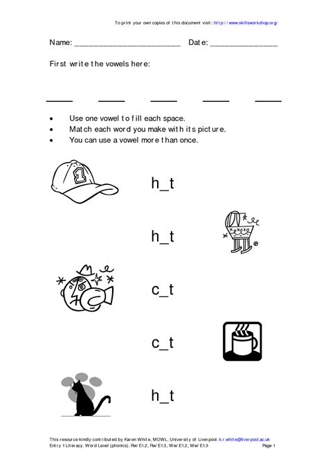 12 Best Images Of First Grade Phonics Worksheets Blends  First Grade Phonics Worksheets, 1st