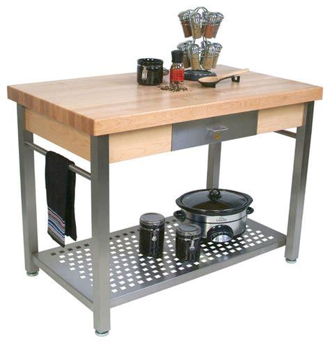 butcher block stainless steel kitchen island boos cucina grande maple stainless steel kitchen 9342
