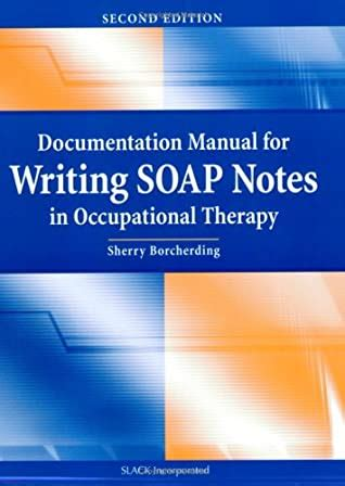 occupational therapy soap note cheat sheet sherry