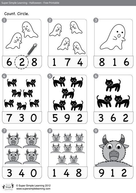 worksheet count circle  images