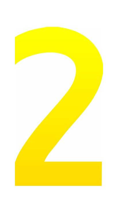 Number Clip Clipart Numbers Yellow Cliparts Clipartion