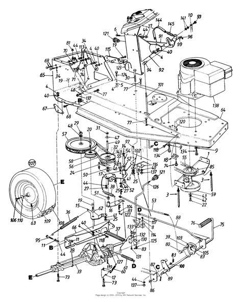 mtd cf lawn tractor    parts diagram
