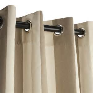 regency sand grommet sunbrella outdoor curtains dfohome