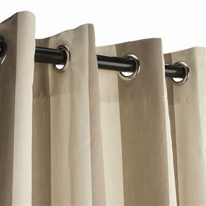 Curtain Outdoor Sunbrella Grommet Grommets Regency Curtains