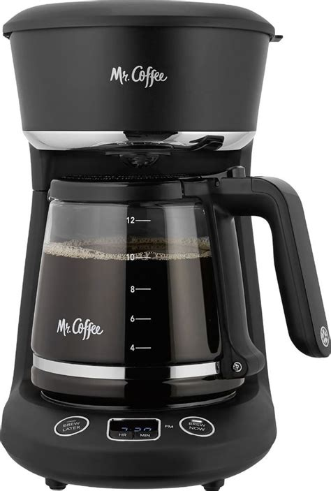 When i hold the hour button or but you definitely want to use a paper filter, or you will have coffee grounds for breakfast, instead of eggs! Mr. Coffee - 12-Cup Coffee Maker - Black/Chrome | Coffee ...