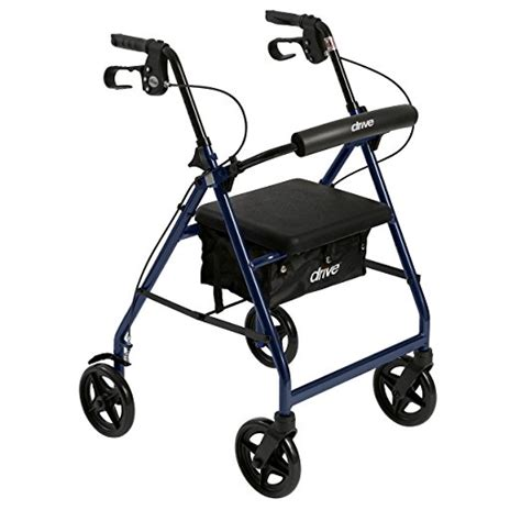 rollator seat walker support removable padded walkers fold paramatan check