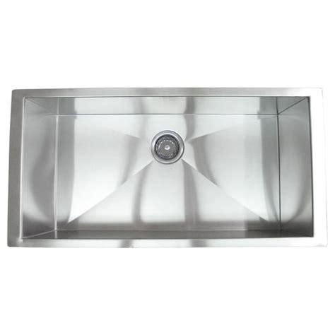 36 inch undermount kitchen sink 36 inch stainless steel undermount single bowl kitchen 7334