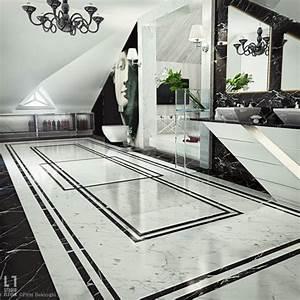 Marbre Salle De Bain : salle bain marbre noir blanc ~ Dailycaller-alerts.com Idées de Décoration