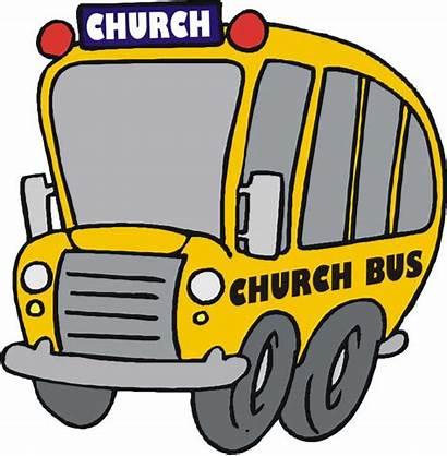 Bus Church Clip Clipart Vector Cartoon Party