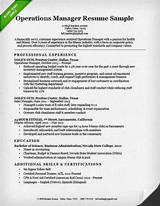 Operations Manager Resume Template Gfyork