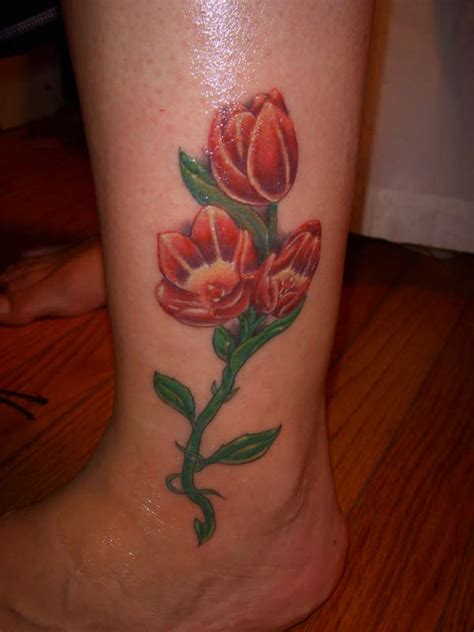 tulip flowers tattoos