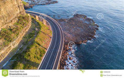 Sea Cliff Bridge Scenic Drive Stock Photo Image Of