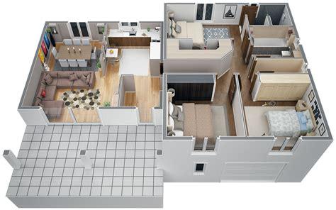 plan maison demi niveau 4 chambres modèle villa contemporaine 100m2 demi étage agate azur