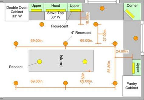 kitchen island spacing 10k kitchen remodel review 15 recessed lighting plan