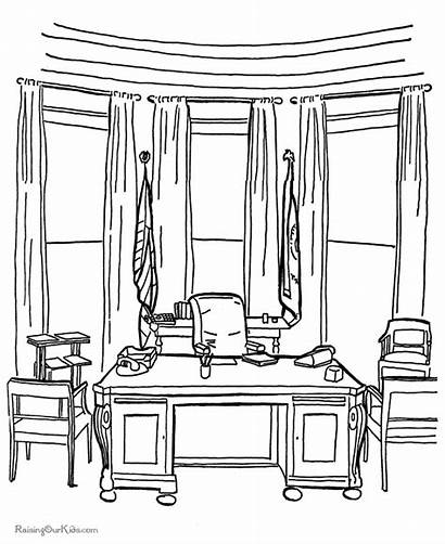 Coloring Pages Office Oval Printable History Patriotic