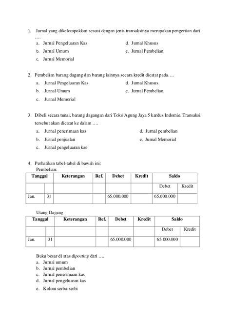 Soal semester akuntansi sma kelas xii dan kunci