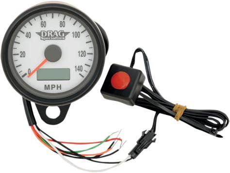 Drag Specialties Black Electronic Speedo Motorcycle