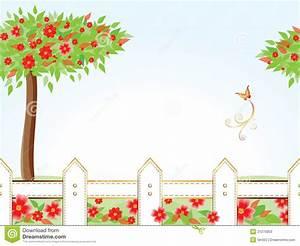 Garden Frame Card Stock Photos - Image: 21275853