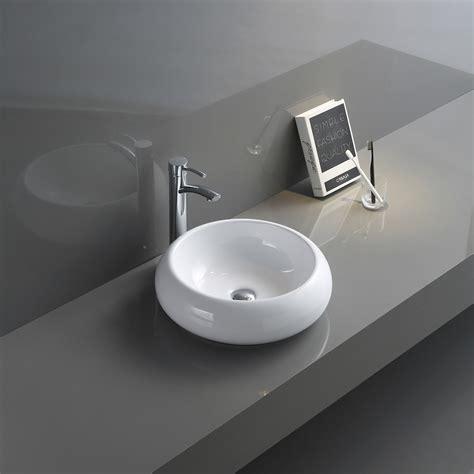 18 bathroom vanity cabinet with undermount resin vessel sink&faucet combo set 814644028920. 18 inch Round Bathroom Vessel Sink White Above Vanity ...