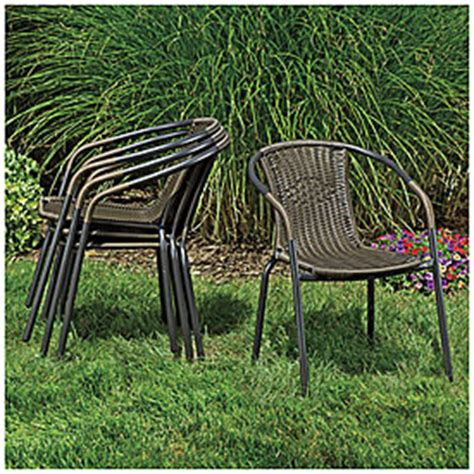 view wilson fisher 174 resin wicker barrel stack chair