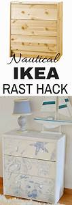 Ikea Rast Hack  Transform A Basic Dresser To Beach Cottage
