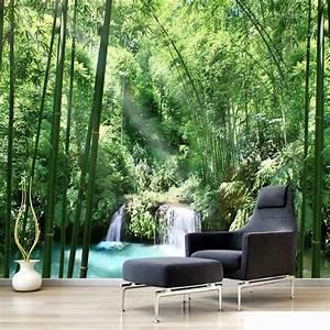 Custom 3D Wall Murals Wallpaper Bamboo Forest Natural ...