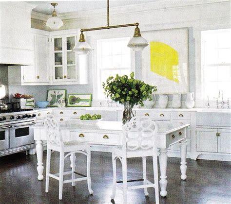 white kitchen island table farmhouse table cottage kitchen b five studio