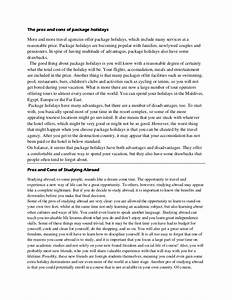 my holiday essay sample free
