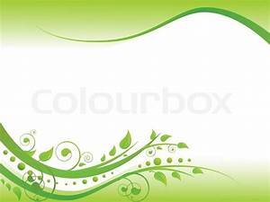 Illustration of floral border in green with copy-space for