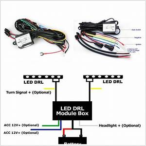 Autos Drl Led Fog Light Automatic On  Off Controller Module