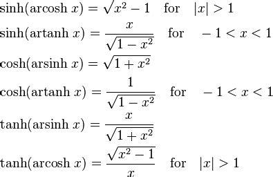 Inverse Hyperbolic Function  Wikipedia, The Free Encyclopedia