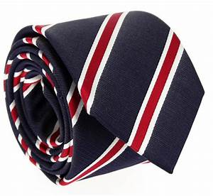 Navyblue Tie with red and White Stripes - Boston VI - Blue ...