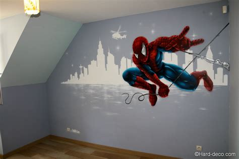 deco chambre garcon heros décor mural deco