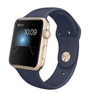 Apple Sport Band Watch with Gold