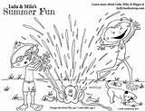 Coloring Sprinkler Fun Summer Milo sketch template
