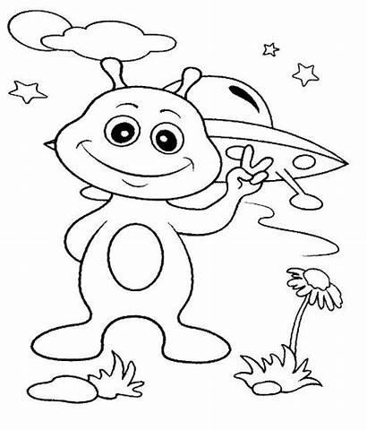 Coloring Pages Space Solar System Alien Rocks