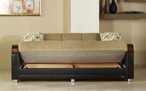 luna fulya brown convertible sofa bed  sunset