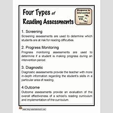 Four Types Of Reading Assessments  Make Take & Teach