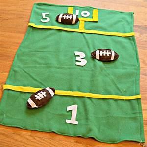 Bean Bag Football Toss   Fun Family Crafts