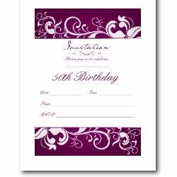 50th birthday invitation template gangcraftnet With template for 50th birthday invitations free printable