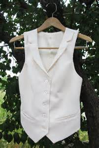 Women's White Vest and Pant Suits