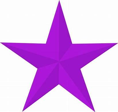 Purple Star Stars Clip Clipart Vector Clker