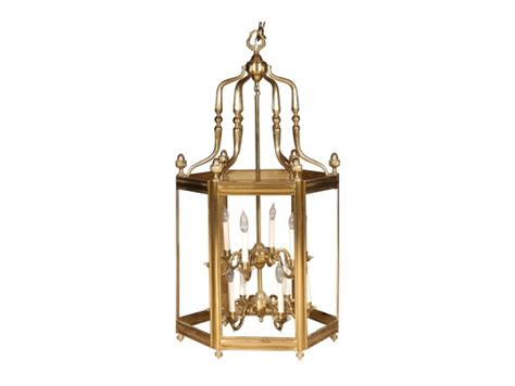 heavy solid brass baldwin hexagonal lantern fixture