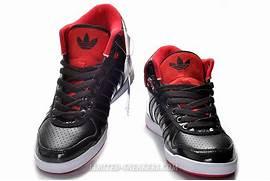 Adidas Originals Women Adidas High Tops Shoes Black Red Adidas Outlet      Adidas Shoes High Tops Red