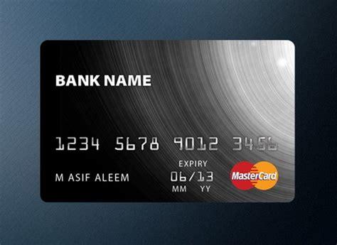 credit card templates  psd ginva