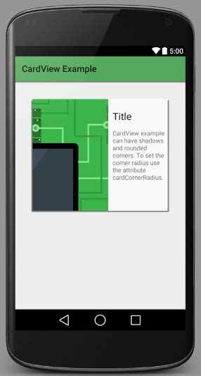 android tutorial mode android cardview  tutorial